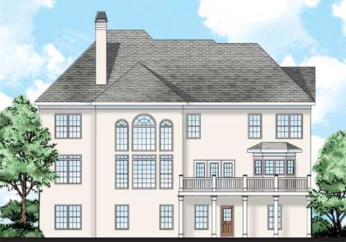 Greenwich House Plan Rear Elevation