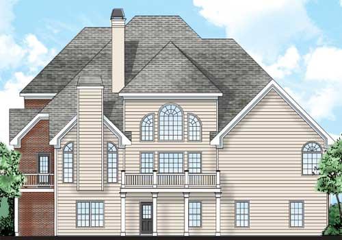 Northampton House Plan Rear Elevation