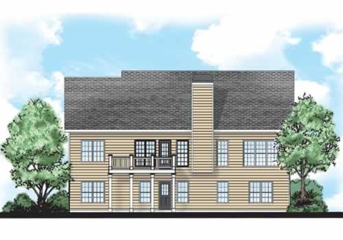 Jasmine House Plan Rear Elevation