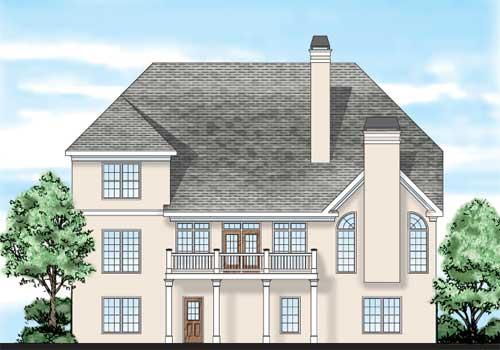 Flanagan House Plan Rear Elevation