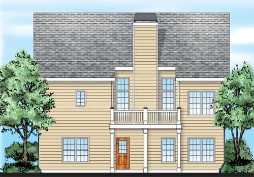 Aberdeen House Plan Rear Elevation