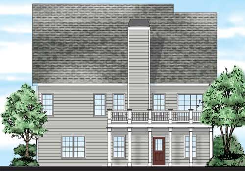 Broadmoor House Plan Rear Elevation
