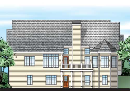 Pinebrook House Plan Rear Elevation