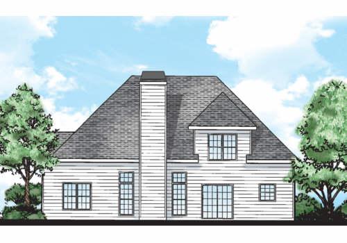 Cranford House Plan Rear Elevation