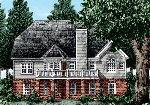 Sullivan House Plan Rear Elevation