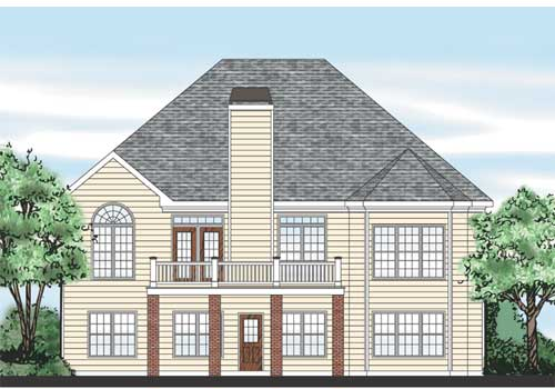 Idlewild House Plan Rear Elevation