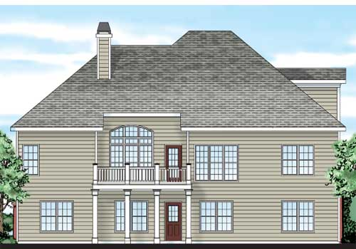 Langston House Plan Rear Elevation