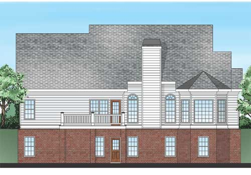 New Albany House Plan Rear Elevation