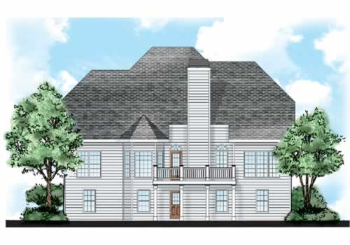 Holly Hill House Plan Rear Elevation