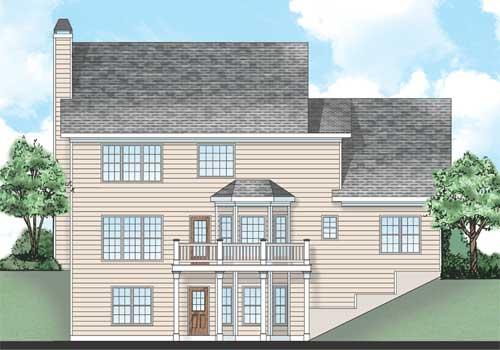 Jackson Springs House Plan Rear Elevation