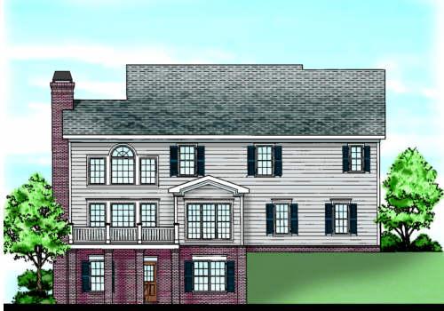 Randolph Place House Plan Rear Elevation