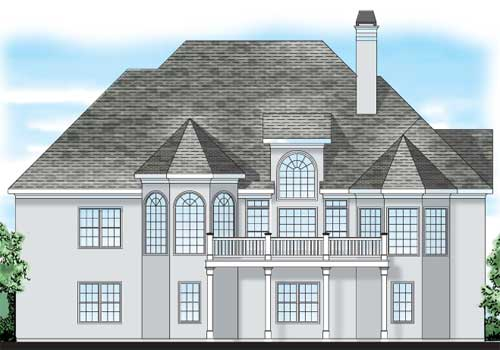 Sanderson Place House Plan Rear Elevation