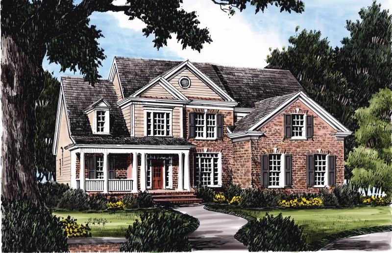 Hanley Hall House Plan Elevation