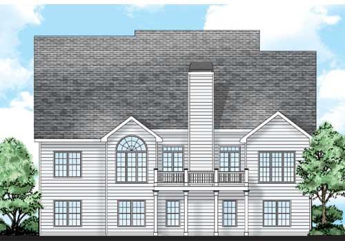 Hanley Hall House Plan Rear Elevation