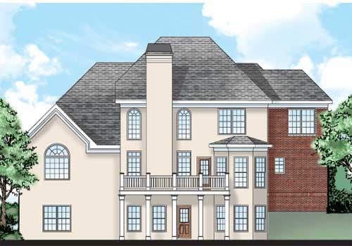Morningside House Plan Rear Elevation