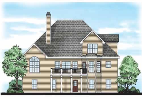 Julian House Plan Rear Elevation