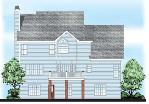 Adamsville House Plan Rear Elevation