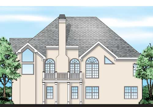 Chadwick House Plan Rear Elevation