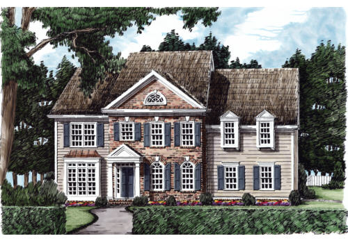 Beacon Hill House Plan Elevation