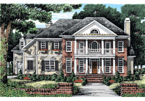 Belmeade Manor House Plan Elevation
