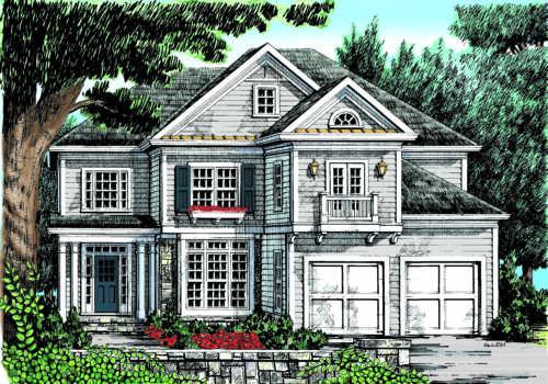 Pine Lake House Plan Elevation