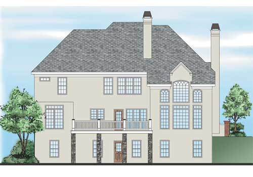 Sheridan Springs House Plan Rear Elevation
