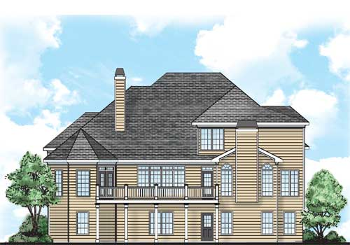 Brookmere House Plan Rear Elevation