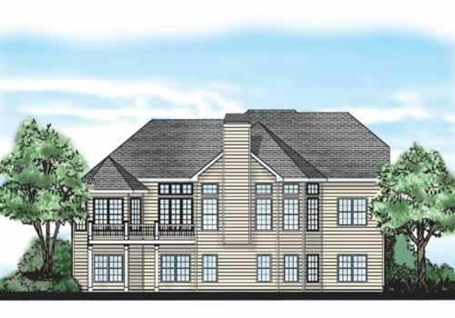 Druid Hills House Plan Rear Elevation