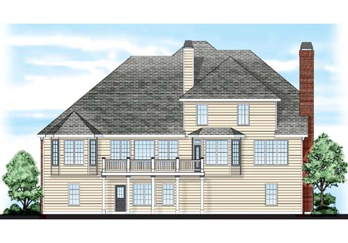 Greyhawk House Plan Rear Elevation