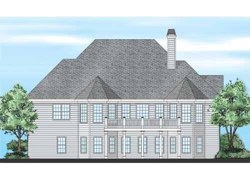 Cornelia House Plan Rear Elevation
