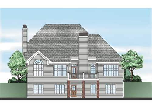 Crestwood Place House Plan Rear Elevation