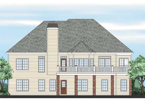 Ivy Spring Cottage House Plan Rear Elevation