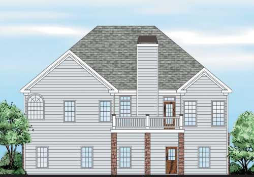 Maple Ridge House Plan Rear Elevation