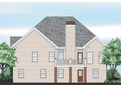 Regent House Plan Rear Elevation