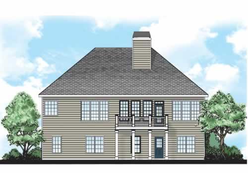 Newbern House Plan Rear Elevation