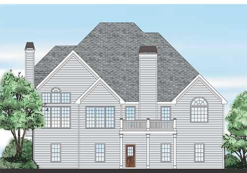 Summerfield House Plan Rear Elevation