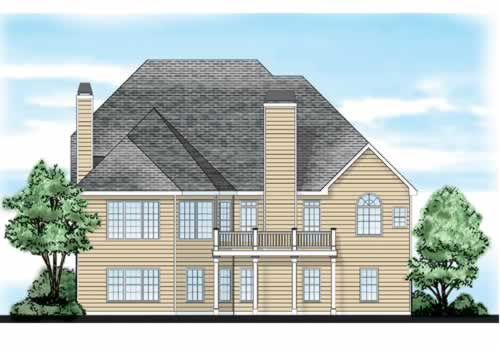 Ambrose House Plan Rear Elevation