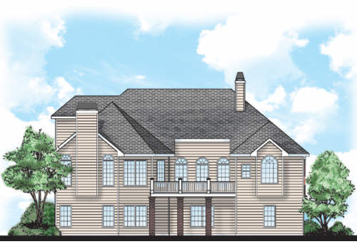 Nordstrom House Plan Rear Elevation