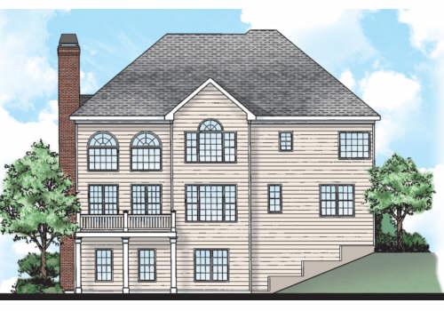 Kingsgate House Plan Rear Elevation