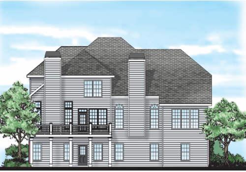 Glenhaven House Plan Rear Elevation