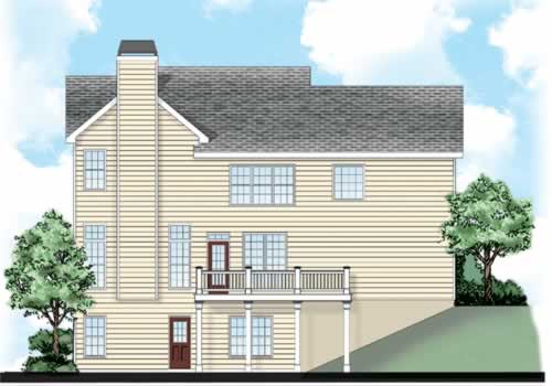 Chestnut Springs House Plan Rear Elevation