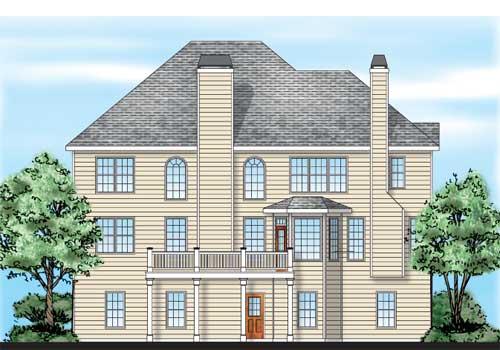 Ballard House Plan Rear Elevation
