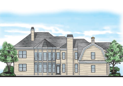 Woodlawn House Plan Rear Elevation