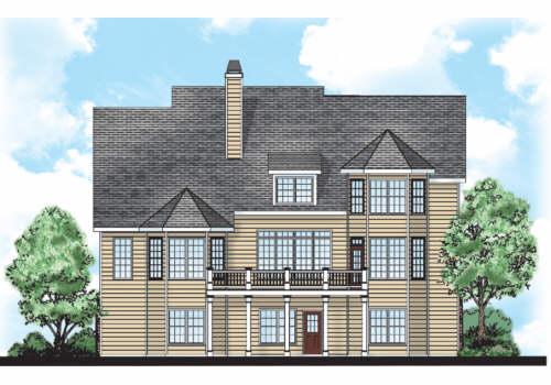 Windward House Plan Rear Elevation