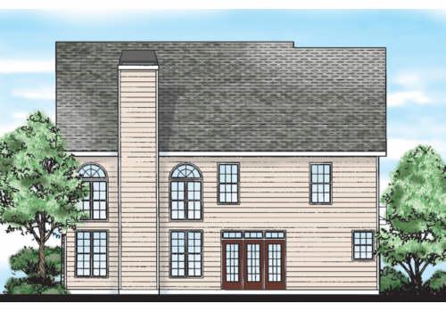 Morristown House Plan Rear Elevation