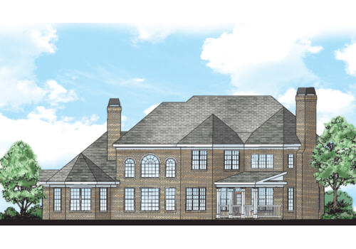 Wilshire Place House Plan Rear Elevation