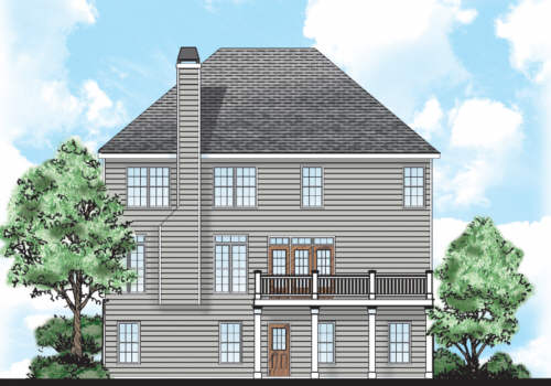 Heritage House Plan Rear Elevation