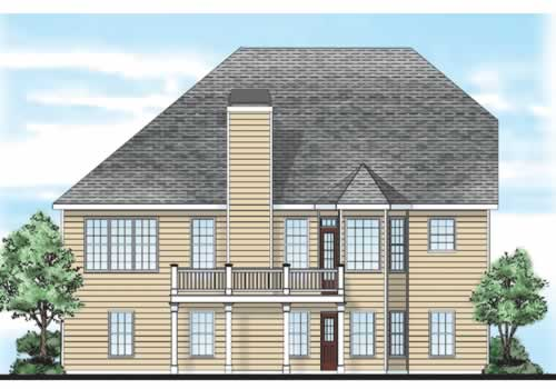 Stonechase House Plan Rear Elevation