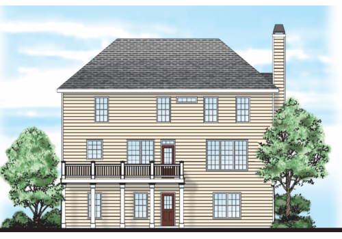 Fairgreen House Plan Rear Elevation
