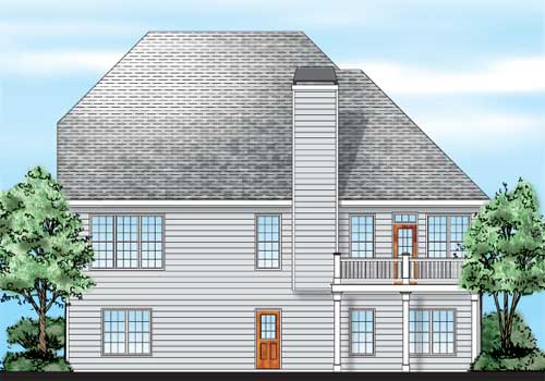 Bouldercrest House Plan Rear Elevation